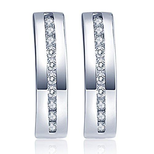 Unendlich U Modisch Damen Ohrstecker 925 Sterling Silber Zirkonia Stecker Ohrringe Creolen Ohrschmuck Earrings, Silber