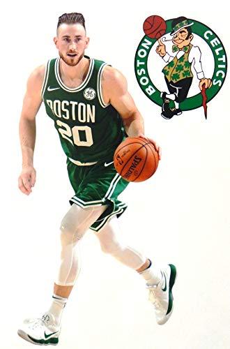 Gordon Hayward Mini FATHEAD Graphic + Boston Celtics Logo Official NBA Vinyl Wall Graphics - This Graphic is 7' INCHES Tall