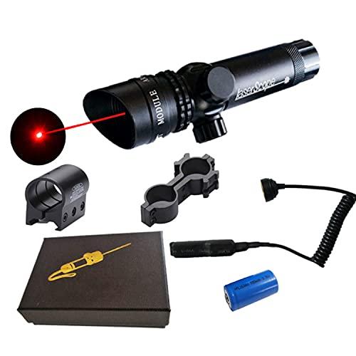 Visor de punto rojo y verde, con montaje en riel, montaje de visor de 532 nm, visor con batería recargable, interruptor de presión del cargador para caza, tiro y actividades al aire libre,Red