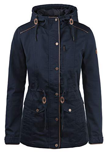 DESIRES Anja Damen Übergangsjacke Mantel Parka leichte Jacke mit Kapuze, Größe:M, Farbe:Insignia Blue (1991)