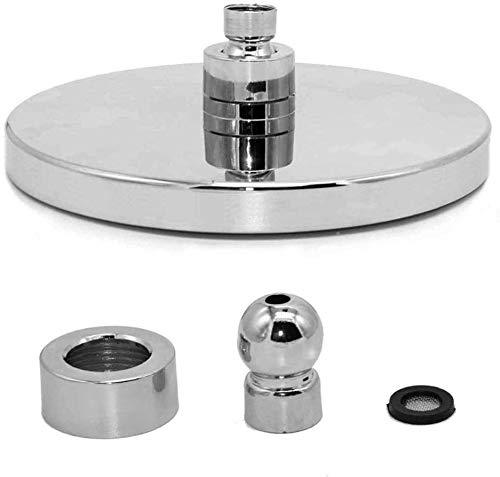 Waterbesparende douchekop met ronde kop, 20,3 cm (8 inch), draaibare douchekop van ABS-kunststof, waterbesparend, duurzaam en gemakkelijk te reinigen.