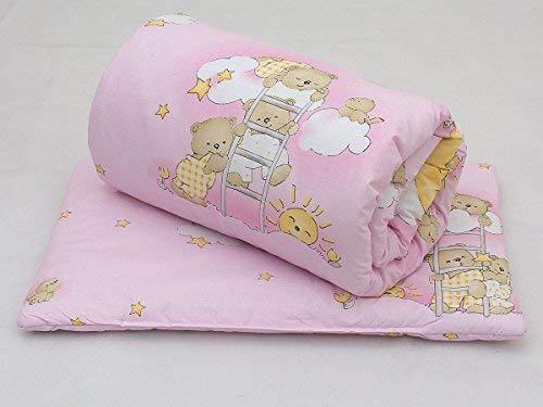 2 Piece Baby Children Quilt Duvet & Pillow Set 120x90 cm to fit Toddler Cot Bed (120 x 90 cm, 5)