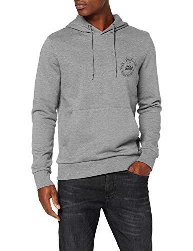 Jack /& Jones Uomo Felpe Pullover Print Hood