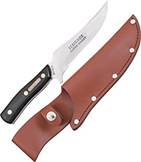 Old Timer 15OT Deerslayer 10.5in High Carbon S.S. Full Tang Fixed Blade Knife with 5.6in Clip Point Blade and Sawcut Handle for Outdoor, Hunting and Camping
