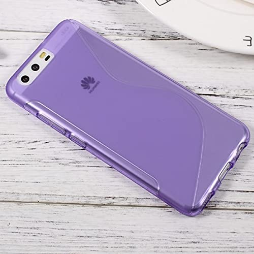 Cover-Discount Carcasa de Silicona para Huawei P10, diseño de S, Color Morado