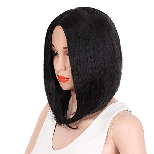 Perruque LHY Courte synthétique Cheveux raides Naturel Noir naturellement réaliste synthétique Élégant