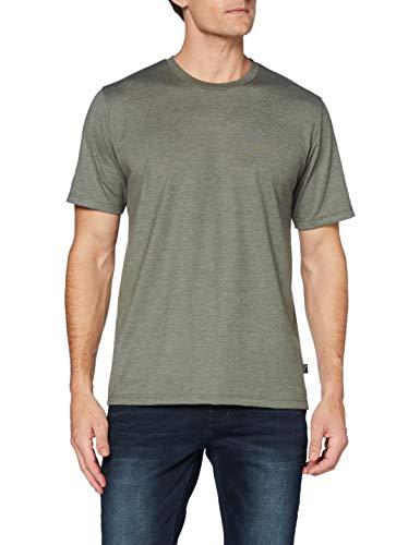 Trigema Herren 637202 T-Shirt, Khaki-Melange, S