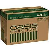 Oasis Instant Deluxe Floral Foam Bricks - Case of 48 - MaxLife Floral Foam - Wet Floral Foam Bricks for Flower Arranging (Green)