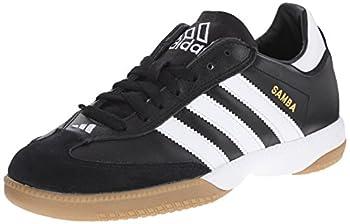adidas Performance Men s Samba Millennium Indoor Soccer Cleat,Black/White/Gold,13.5 M US