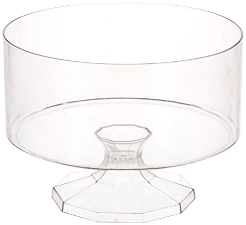 Amscan 1 Count 5-7/8 Plastic Trifle Container, Small, Clear Small
