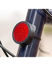Wolfprint fiets-reflector huisvesting voor Apple Airtag | spatwaterdichte huisvesting incl. kabelbinders | fietshouder | fietsbevestiging | houder (zwart)