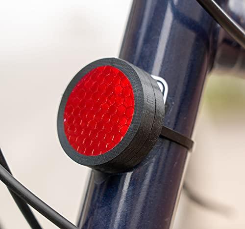 Wolfprint Fahrrad Reflektor Einhausung für Apple Airtag | Spritzwassergeschützte Einhausung inkl. Kabelbindern | Fahrradhalterung | Fahrradbefestigung | Halter (Schwarz)