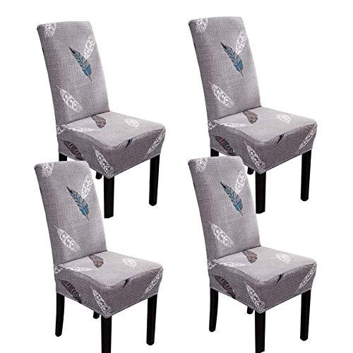 LYY Fundas de asiento de comedor, fundas de silla extraíbles universales para sillas de comedor con banda elástica para el hogar, hotel, banquetes y cocina