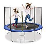 trampolino elastico da giardino tappeto elastico esterno con rete di sicurezza yourmove diametro 251 cm (8 ft)