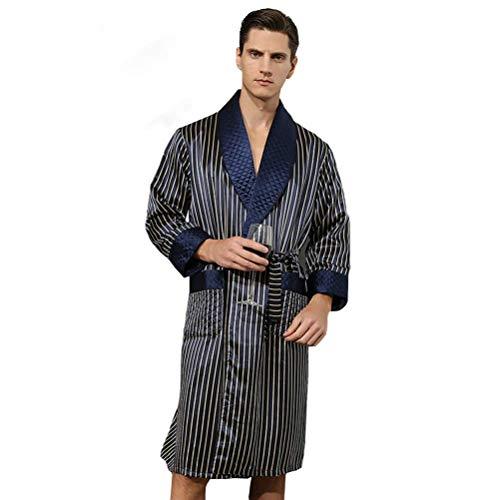 qazxsw Herren Nachtwäsche 100% Seide Pyjama Seide Pyjama Langer Seidenraupen...