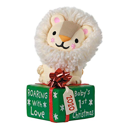 Hallmark Keepsake Ornament 2020 Year-Dated, Baby's First Christmas Roaring With Love Lion