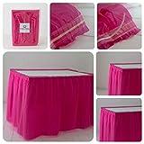 ORKIDEA Party - Falda de mesa con tul – Fabricado en Italia – Tamaño: 74 x 420 cm (fucsia)