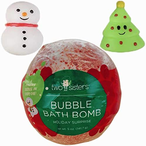 Christmas Bubble Bath Bomb for Kids with Surprise Holiday Squishy Toy Inside by Two Sisters product image