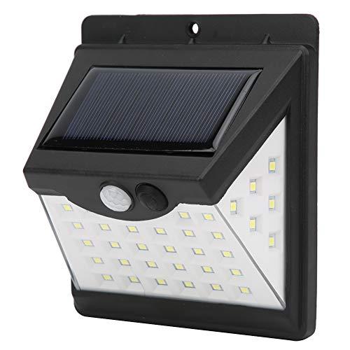 Lámpara de pared con sensor solar, sistema de inducción solar con sensor de movimiento de plástico, uso de emergencia para huracanes al aire libre, pasillo, entradas, porches, seguridad de jardín