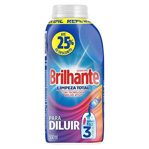Detergente Líquido Para Diluir Brilhante Limpeza Total 500ml