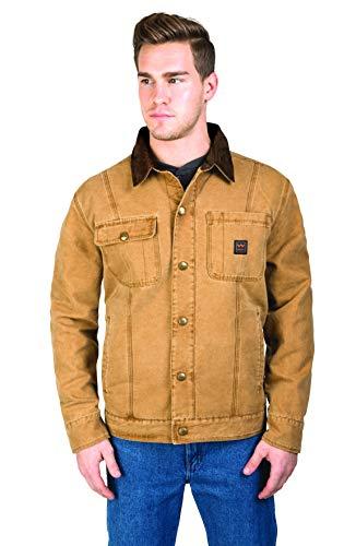Walls Men's Amarillo Vintage Duck Cotton Twill Jacket, Washed Pecan, Large