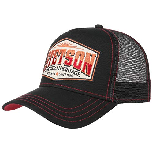 Stetson Gorra Trucker Heritage Mujer/Hombre - de Malla Beisbol Snapback Cap con...