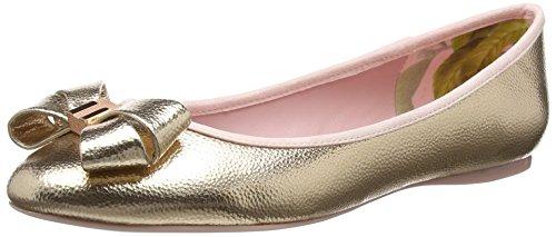 Ted Baker Damen Immet 2 Geschlossene Ballerinas, Gold (Rose Gold), 39 EU