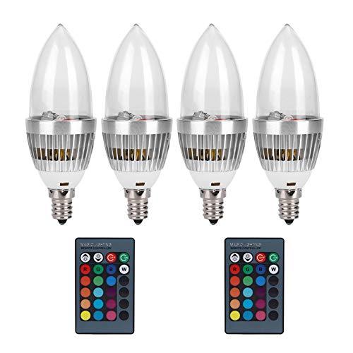 Changor Lámpara de Vela RGB, Bombilla Inteligente ordinaria AC85V - 265V Aleación de Aluminio y PC Hecho 10.5 CM (RGB)