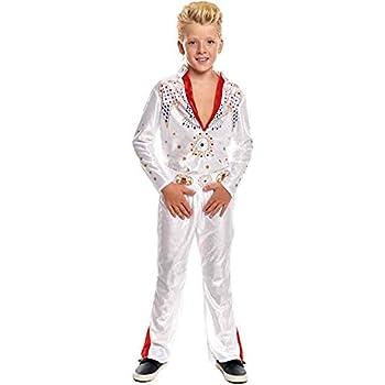 Smiffys 36104L- Traje de Elvis para niños , traje y bufanda ...