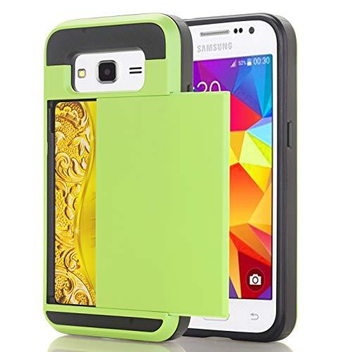 Samsung G7100 Hoesje Case, slanke portemonnee kaartsleuf houder schuiven verborgen zak dubbele laag zware bescherming robuuste harde shell Hoesje Case Case voor Galaxy G7100 5.5inch, Samsung G7100 5.5inch, 4