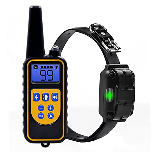 Montloxs Collar de Entrenamiento de Perro Recargable Impermeable IP67 Collar de Perro de Descarga eléctrica automática Collar de Mascota Tapón de ladrido Collar de Perro automático Entrenamiento