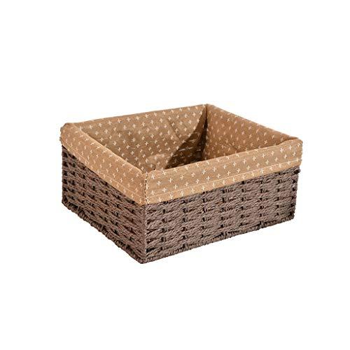Eiermand, Met Katoen Voering Natuurlijk Weave Belemmert Voor Picknick Voedsel Fruit Brood Huis Opslag Decoratie (Color : Brown)