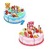 Yunso 37 Teile/Satz Geburtstagstorte Spielzeug Küche Lebensmittel Rollenspiel Für Kinder Mädchen Geschenk