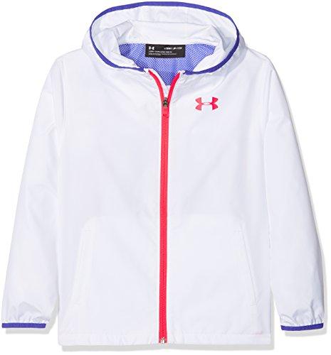 Under Armour Mädchen Sack It Full Zip Jacket Jacke, Weiß (White), XS