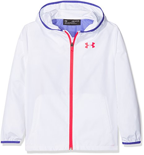 Under Armour Mädchen Sack It Full Zip Jacket Jacke, Weiß (White), SM