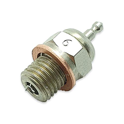 TCA Racing Candela Standard N° 6 - Glow Plug - per Motori A Scoppio - Scala 1/8 - 1/10 - AUTOMODELLI