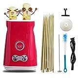 cocedor de huevos, Máquina hacer rollos de huevo, Máquina automática de desayuno ascendente, máquina eléctrica de salchichas de tortilla, herramienta para cocinar tazas de huevos hervidos (rojo)