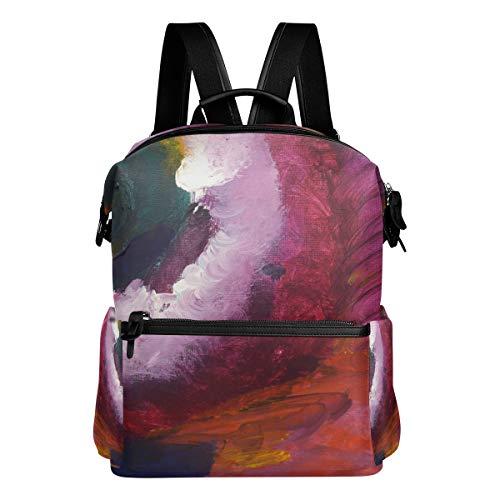 FANTAZIO Mochila para niñas Galería pintura abstracta Daypack