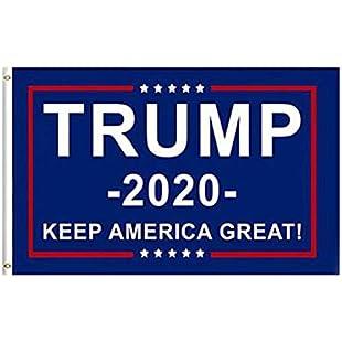 Hengxingwf 90 * 150cm Trump 2020 Presidential Election Flag Chuanpu Campaign Banner