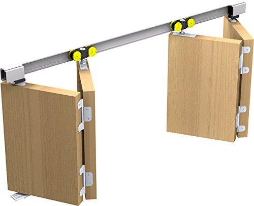Mantion Schiebetürbeschlag Tango 40-200 für 2x Falttür Faltschiebetür bis 200 cm
