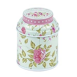 profusion Cercle vintage Fleurs cour Style Designs Tabac Thé fer blanc Boîtes Candy Moules à biscuits Boîte de rangement Container Stash Peut