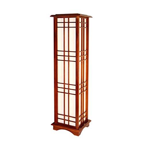 Lámparas de Pie Lámpara de Piso Luz de Pie Lámpara de pie de madera maciza japonesa, lámpara de mesita de noche, lámpara de pie de la sala de estar del dormitorio, E27, lámpara de pie LED Lámparas de