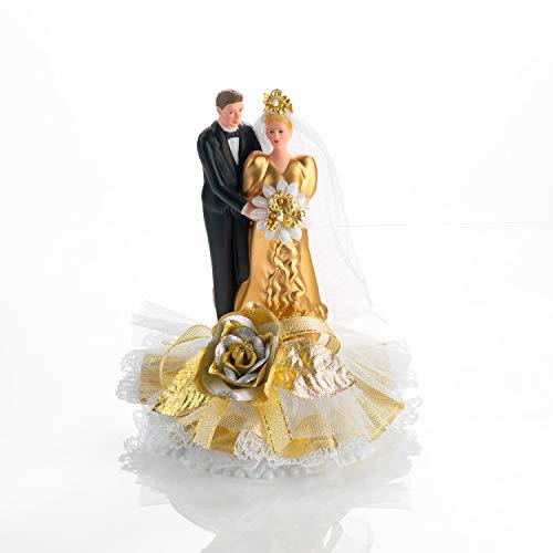 Brautpaar, gold für Hochzeitstorte