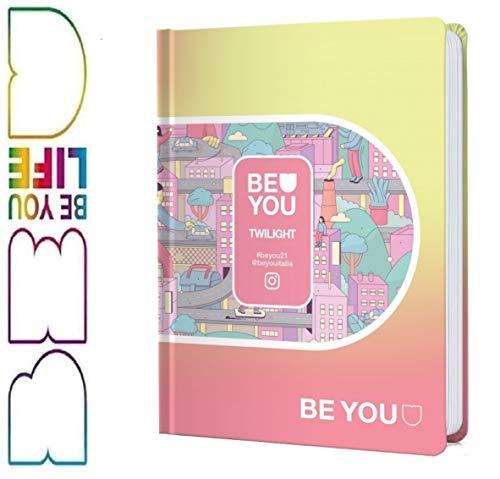 DIARIO SCUOLA Be You Be TWILIGHT - u Be yourself POCKET giallo arancione 2020-2021 + omaggio portachiave girabrilla + penna colorata + segnalibro