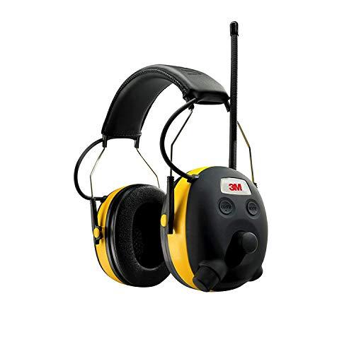 Original 24db PELTOR/3M Digital Radio Gehörschutz Kopfhörer mit Voice Assistent und Smartphone/MP3 Player Anschluss