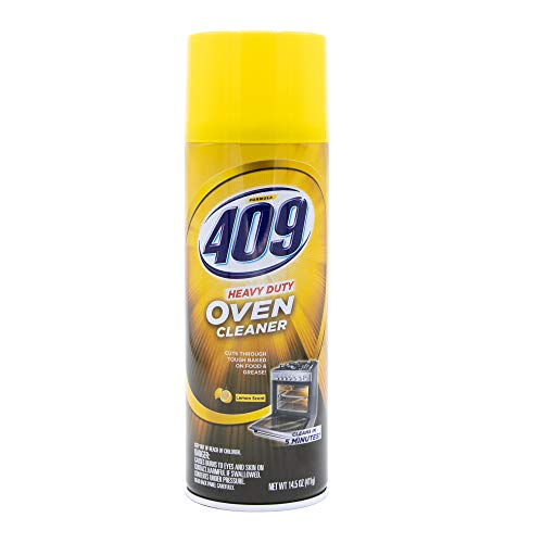 409 Heavy Duty Spray-On Oven Cleaner, Cuts Through Grease & Grime on Contact, A Powerful Clean You Can Trust, Lemon Scent, 14.5 Oz | Grill Cleaner, Stove Top Cleaner, 409 Cleaner