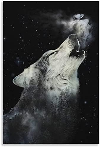 PóSter Y Estampados Call of The Wild y Picture Modern para la decoración de la Sala de Estar Lienzo Pintura Pared Arte Cuadros 23.6'x35.4'(60x90cm) Sin Marco