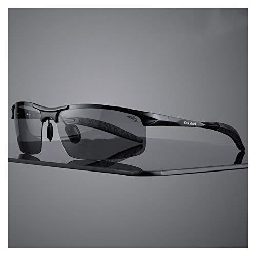 JCNVT Diseño Moderno Nuevas Gafas de Sol de magnesio de Aluminio Gafas de Sol para Hombre HD Polarizado Conductor de conducción Color Gafas Marea para Conducir Viajes (Lenses Color : Smoky Gray)