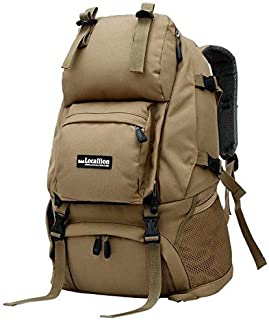 Outdoor Men's Backpack 40L Large Capacity Waterproof Tactical Rucksacks Pack Bag for Mountain Climbing Hunting Shooting Camping Hiking Traveling khaki
