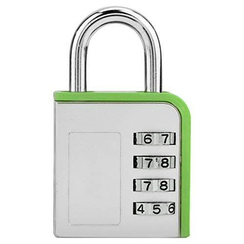 Candado con contraseña de 4 dígitos, candado con contraseña, puerta de almacén, candado industrial para puerta, bolsa de viaje, bolsa deportiva, taquilla, máquina expendedora, etc.(Verde)